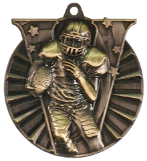 "2"" Gold Football Victory Medal"