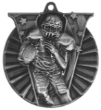 "2"" Silver Football Victory Medal"