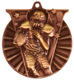 "2"" Bronze Football Victory Medal"