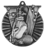 "2"" Silver Golf Victory Medal"