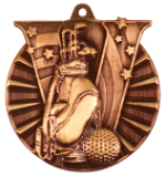 "2"" Bronze Golf Victory Medal"