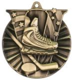 "2"" Gold Hockey Victory Medal"