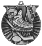 "2"" Silver Hockey Victory Medal"