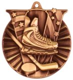 "2"" Bronze Hockey Victory Medal"