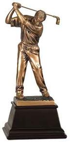 "13 1/4"" Bronze Male Golf Resin Award"