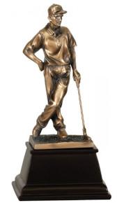 "9"" Bronze Male Golf Resin Award"