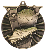 "2"" Gold Soccer Victory Medal"