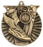 "2"" Gold Track Victory Medal"