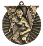 """2"""" Gold Wrestling Victory Medal"""