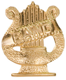 Gold Band Metal Chenille Letter Insignia