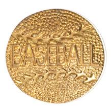 Gold Baseball Metal Chenille Letter Insignia