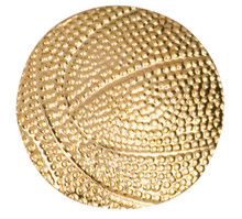 Gold Basketball Metal Chenille Letter Insignia