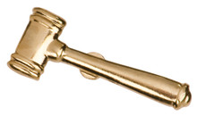 Gold Gavel Metal Chenille Letter Insignia
