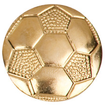 Gold Soccer Metal Chenille Letter Insignia