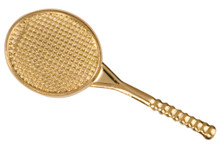 Gold Tennis Metal Chenille Letter Insignia