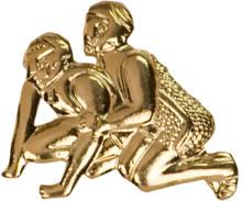 Gold Wrestling Metal Chenille Letter Insignia