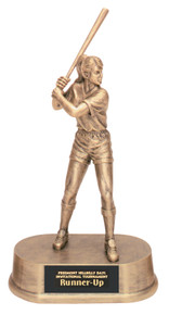 "9 1/4"" Antique Gold Female Softball Resin"