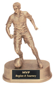 "7 3/4"" Antique Gold Male Soccer Resin"
