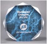 """5"""" Blue Marble Octagon Award Acrylic"""