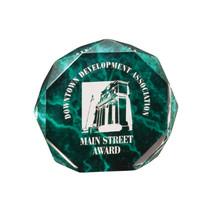 "5"" Green Marble Octagon Acrylic Award"