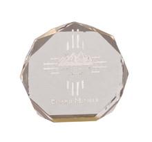 "5"" Gold Octagon Acrylic Award"