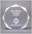"5"" Blue Octagon Acrylic Award"