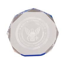 "6"" Blue Octagon Acrylic Award"
