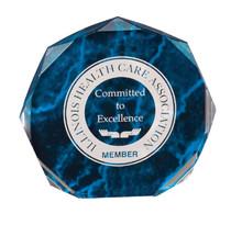 """7"""" Blue Marble Octagon Acrylic Award"""
