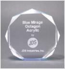 "7"" Blue Octagon Acrylic Award"