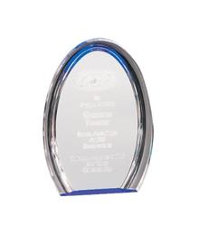 "8"" Blue Oval Halo Acrylic"