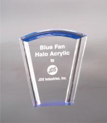 """7"""" Blue Fan Halo Acrylic"""