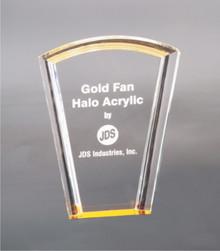 "8"" Gold Fan Halo Acrylic"