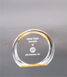 """5 3/8"""" Gold Round Halo Acrylic"""