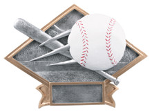 "6"" x 8 1/2"" Baseball Diamond Plate Resin"