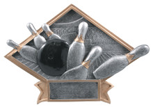 "6"" x 8 1/2"" Bowling Diamond Plate Resin"