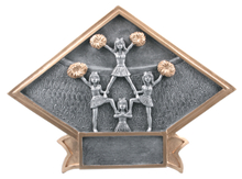 "6"" x 8 1/2"" Cheerleader Diamond Plate Resin"