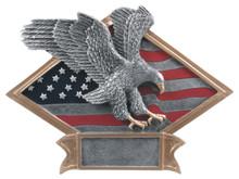 "6"" x 8 1/2"" Eagle Diamond Plate Resin"