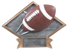 "6"" x 8 1/2"" Football Diamond Plate Resin"