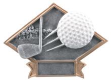 "6"" x 8 1/2"" Golf Diamond Plate Resin"
