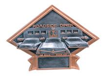 """6"""" x 8 1/2"""" Car Show/50s Theme Diamond Plate Resin"""