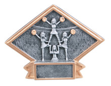 "4 1/2"" x 6"" Cheerleader Diamond Plate Resin"