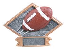 "4 1/2"" x 6"" Football Diamond Plate Resin"