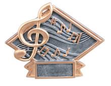 """4 1/2"""" x 6"""" Music Diamond Plate Resin"""