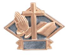 "4 1/2"" x 6"" Religious Diamond Plate Resin"