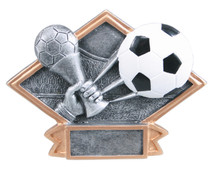"4 1/2"" x 6"" Soccer Diamond Plate Resin"