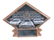 """4 1/2"""" x 6"""" Car Show/50s Theme Diamond Resin Plate"""
