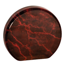 "3 1/2"" Red Marble Acrylic Circle"