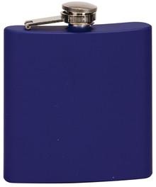 6 oz. Matte Blue Stainless Steel Flask