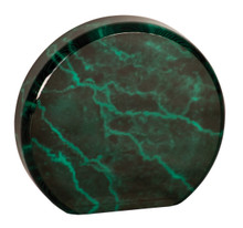 "5 1/2"" Green Marble Acrylic Circle"