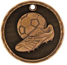 """2"""" Bronze 3D Soccer Medal"""